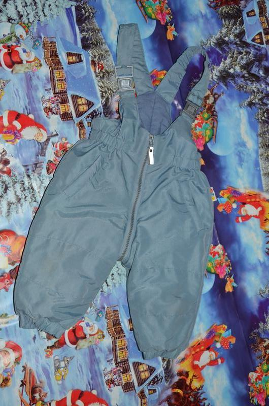Зимний полукомбинезон штаны liegelind 74см.