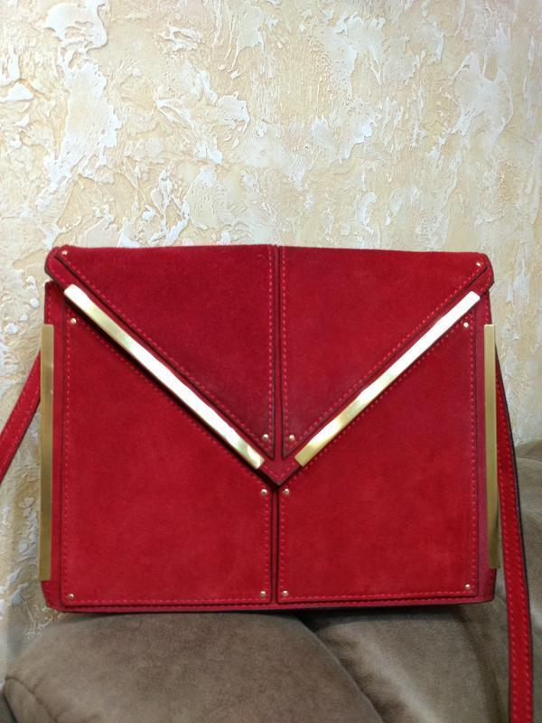 Роскошная кожаная сумка на плечо reiss