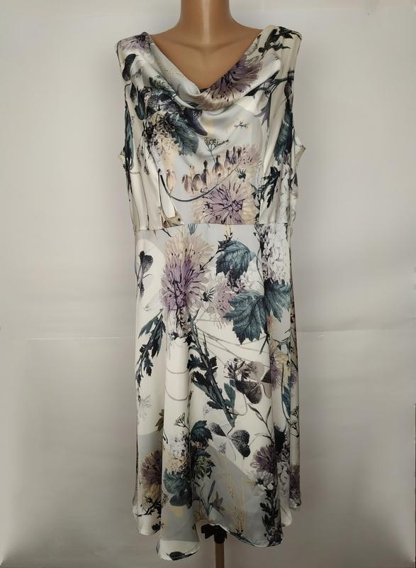 Платье нежное красивое в цветы большой размер uk 18/46/xxl