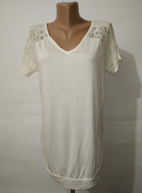Белая нарядная вискозная блуза с кружевными вставками next uk ...