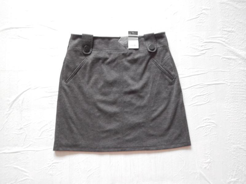 M-l, поб 50-54, новая трикотажная юбка мини wallis