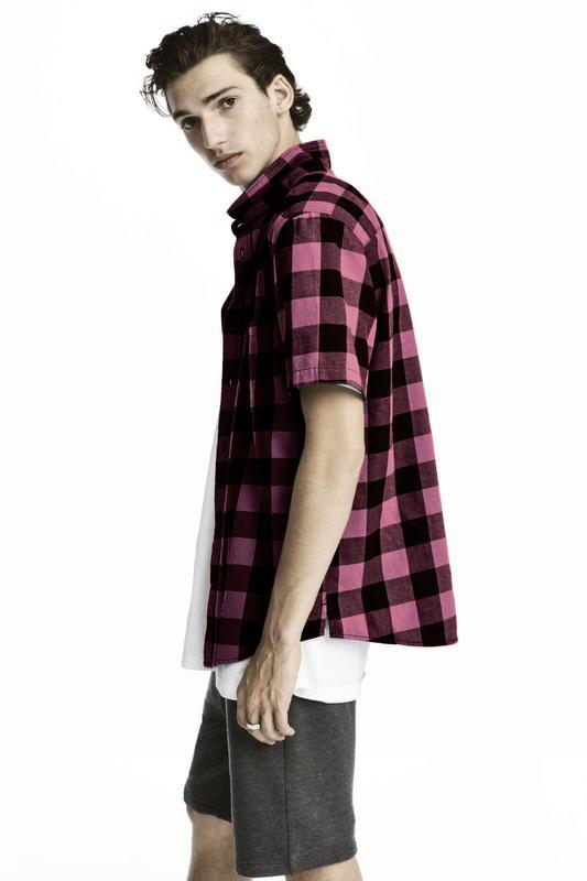 Фланелевая клечатая рубашка h&m !
