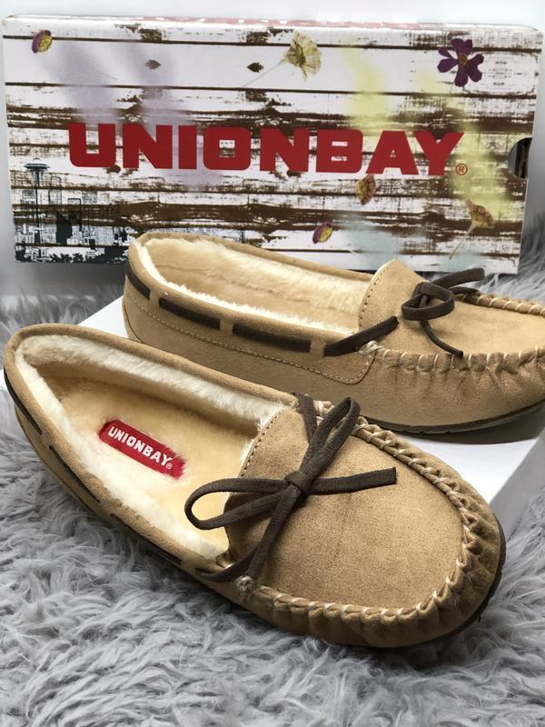 Меховые мокасины бренд unionbay