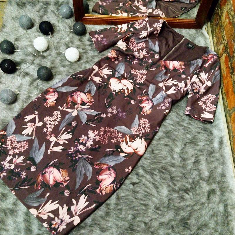 Платье футляр с v-образным вырезом next