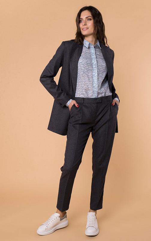 Теплые шерстяные брюки, стильный крой