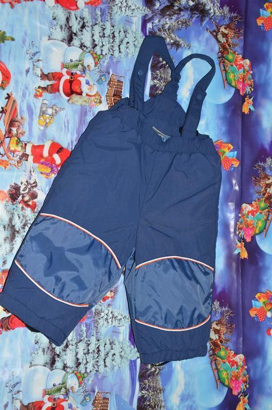Термо штаны,полукомбинезон 68см на 6-12мес. kappahl