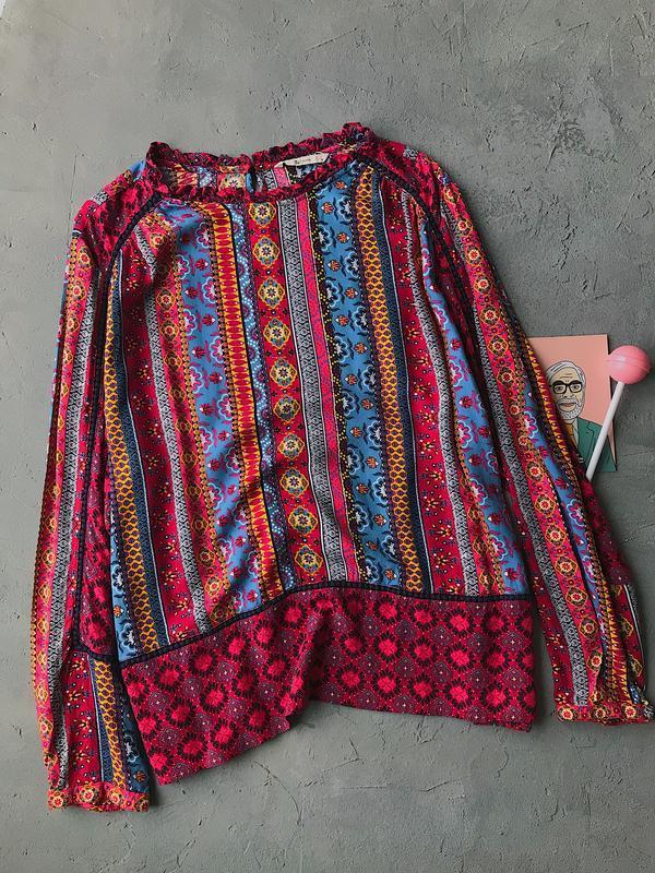 Скидки - 50% !!! яркая блуза из вискозы большой размер