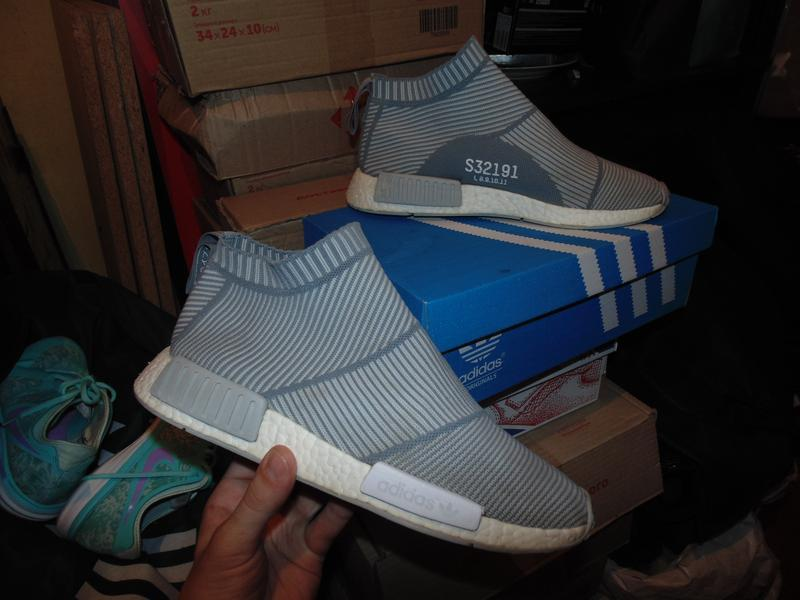 Кроссовки adidas nmd city sock grey white оригинал