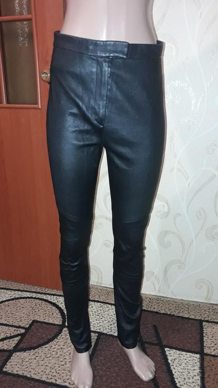 Брюки штаны из натуральной кожи высокой посадки