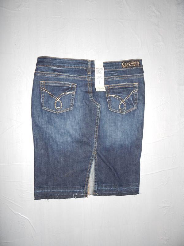 S-m, поб 46-50, новая джинсовая юбка карандаш cars jeans