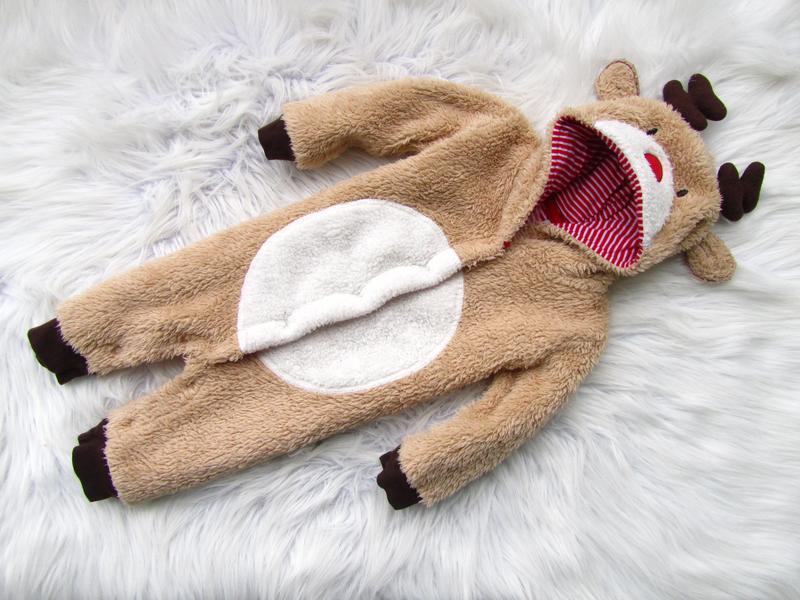 Теплый комбинезон человечек ромпер с капюшоном jojo mama bebe