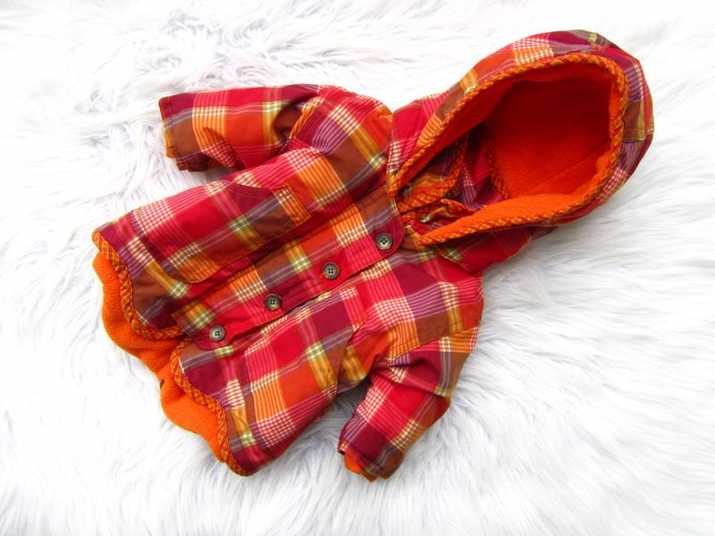 Стильная теплая куртка парка с капюшоном h&m