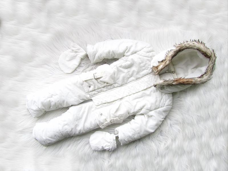 Теплый комбинезон человечек ромпер с капюшоном и варежками cleux