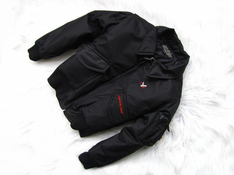 Стильная теплая  куртка бомбер complices eagle