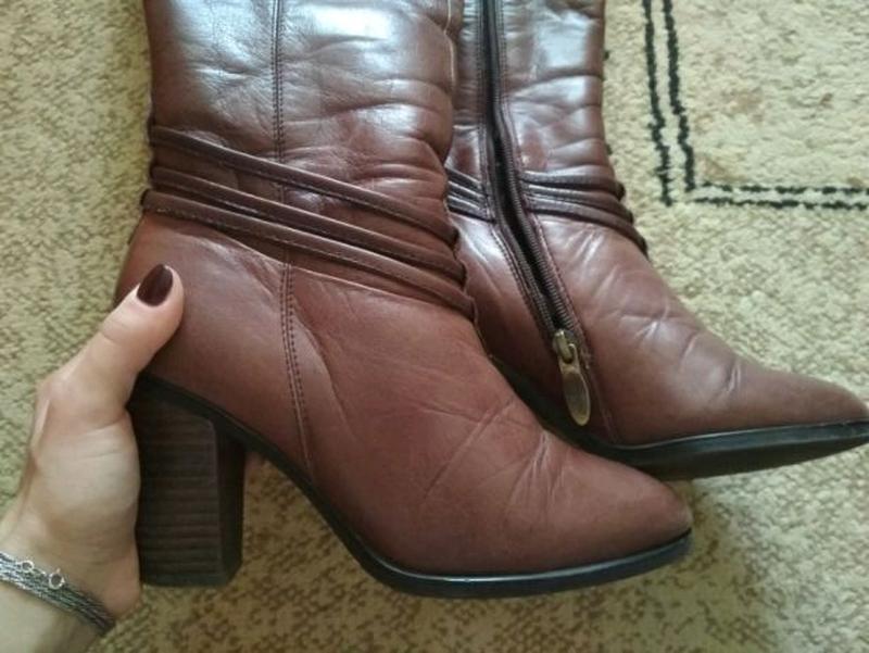 Сапоги/ ботинки, кожа цегейка, еврозима р 35-36 - Фото 2