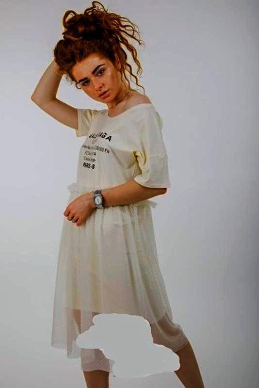 Распродажа!!платье с фатином 2 в1   р. s/m