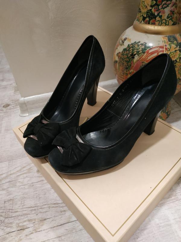 Фирменные туфли - кожа  замш