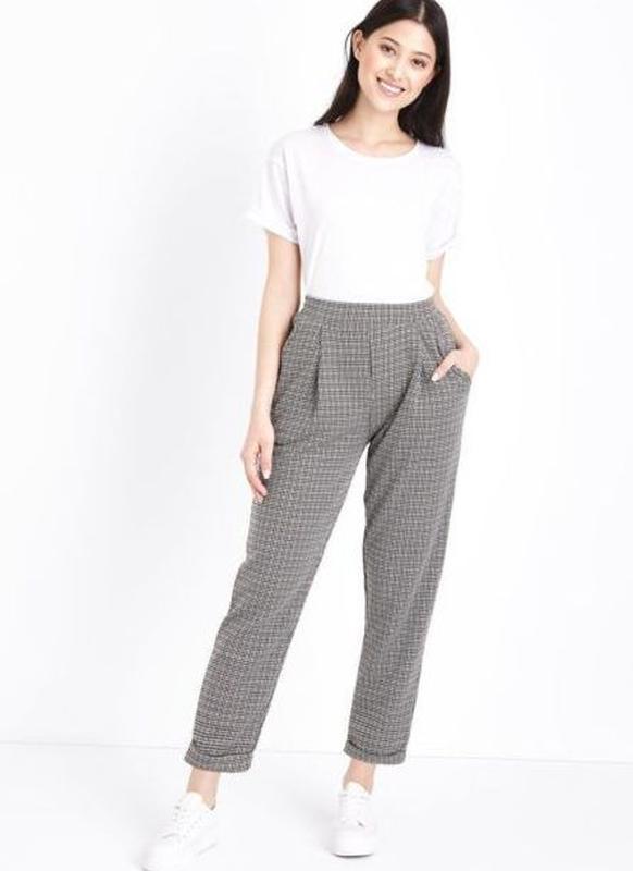 Необычные широкие штаны- укорочены