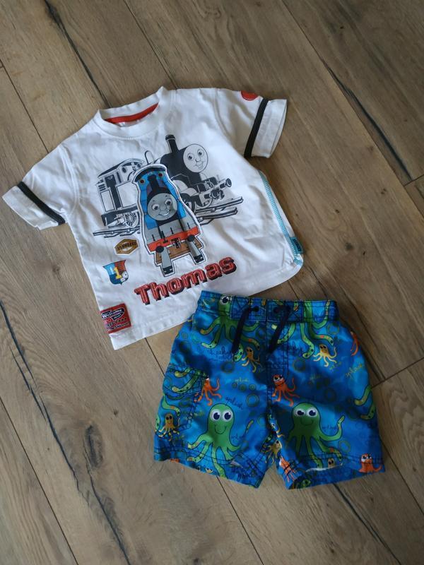 Комплект, шорты, футболка 2-3 года