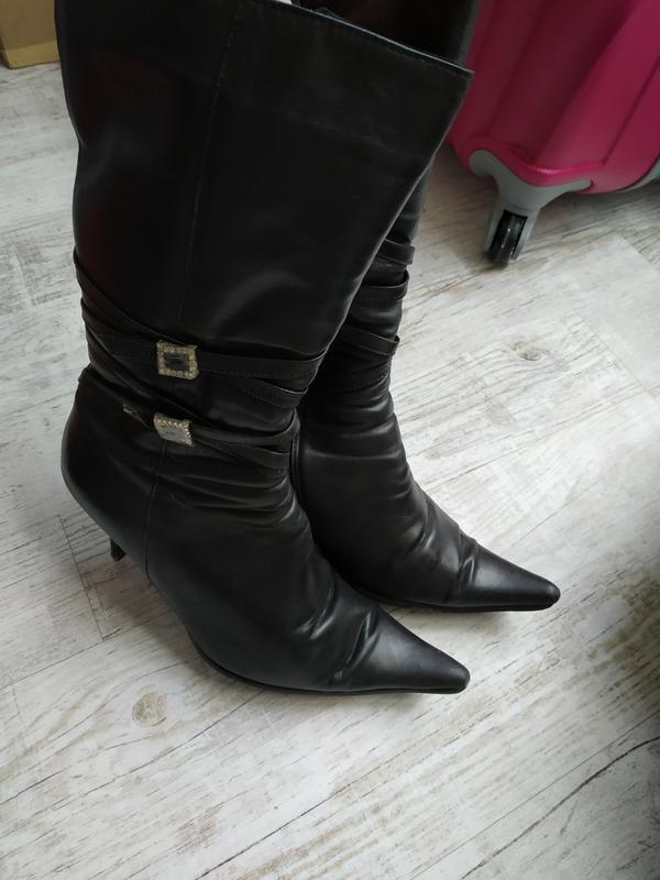 Фирменные кожаные зимние сапоги, сапожки, ботинки