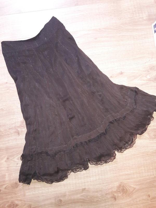 Красивая юбка с рюшами