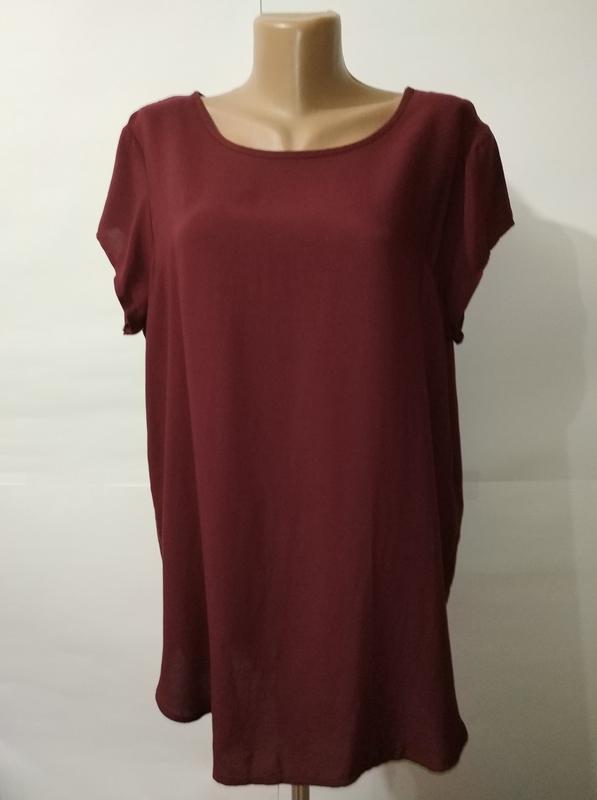 Блуза новая натуральная бордовая штапель vero moda uk 14/42/xl