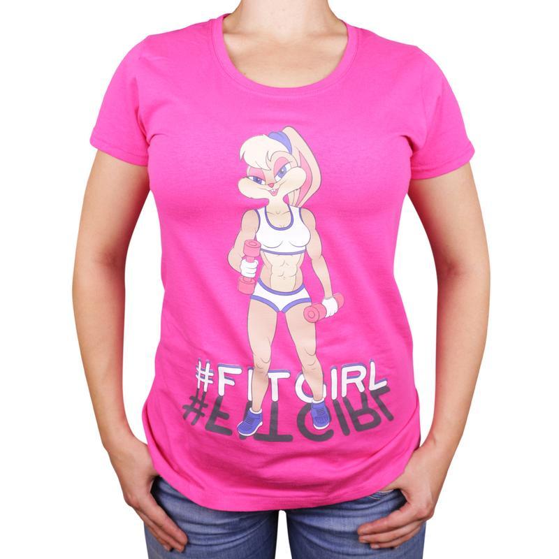 Женская футболка с принтом фитнес