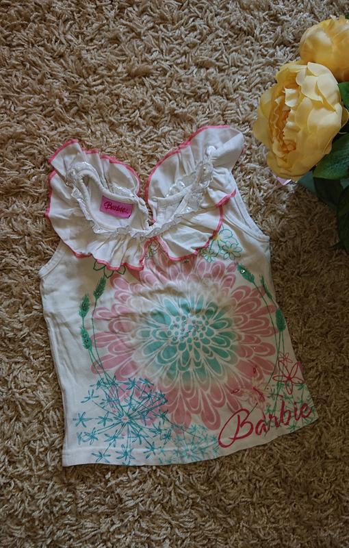 Майка футболка barbie на девочку 2-4 года