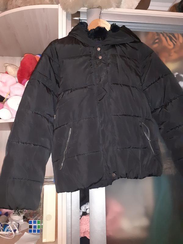 Куртка зефирка с меховым капюшоном