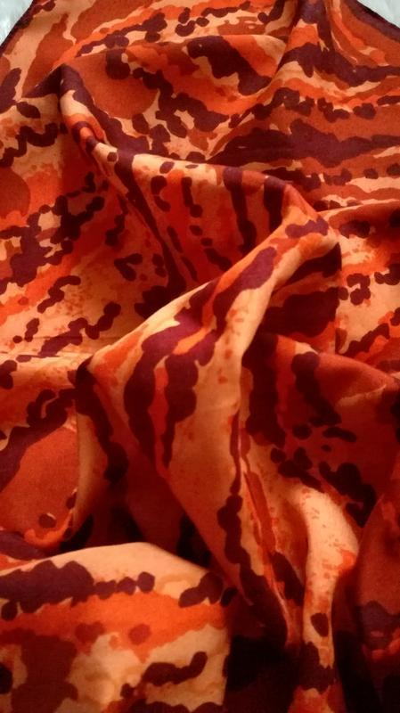 65/68 сатиновый платок шарф оттенки корицы