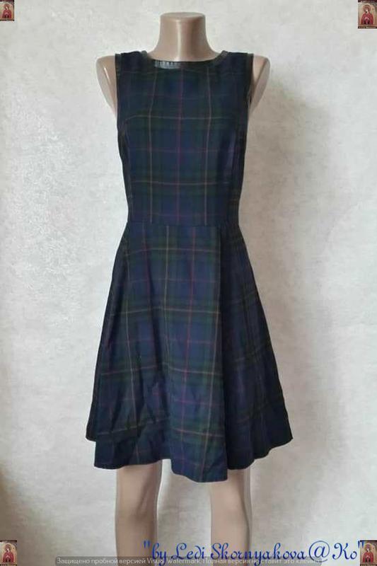 Красивое фирменное george платье в клетку со вставками с мягко...