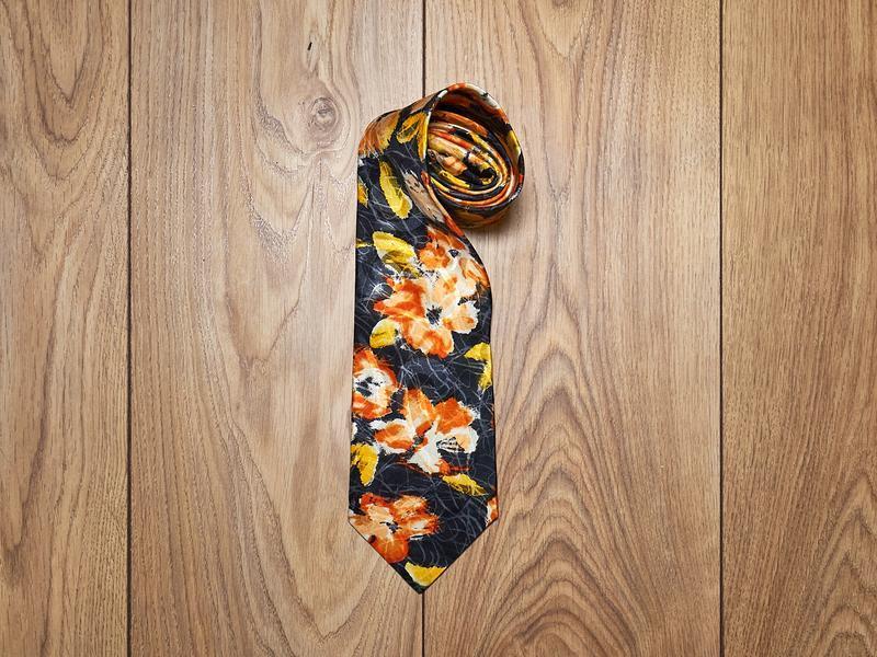 Мужской шелковый галстук. alba moda винтаж.