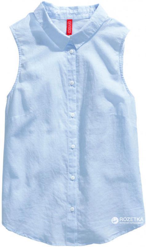 Хлопковая майка/рубашка/блуза без рукавов от h&m