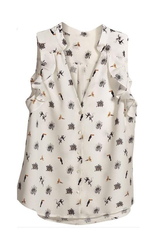 Блуза/блузка в принт от h&m conscious