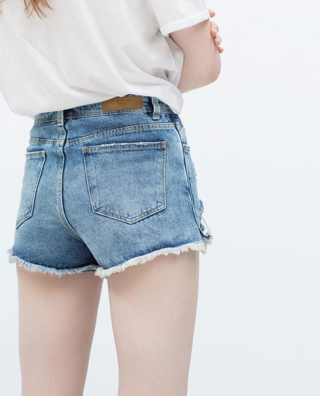Короткие джинсовые шорты из денима от zara