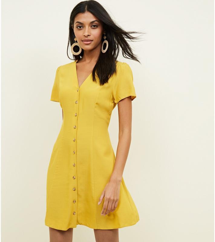 Желтое Платье Халат С Запахом