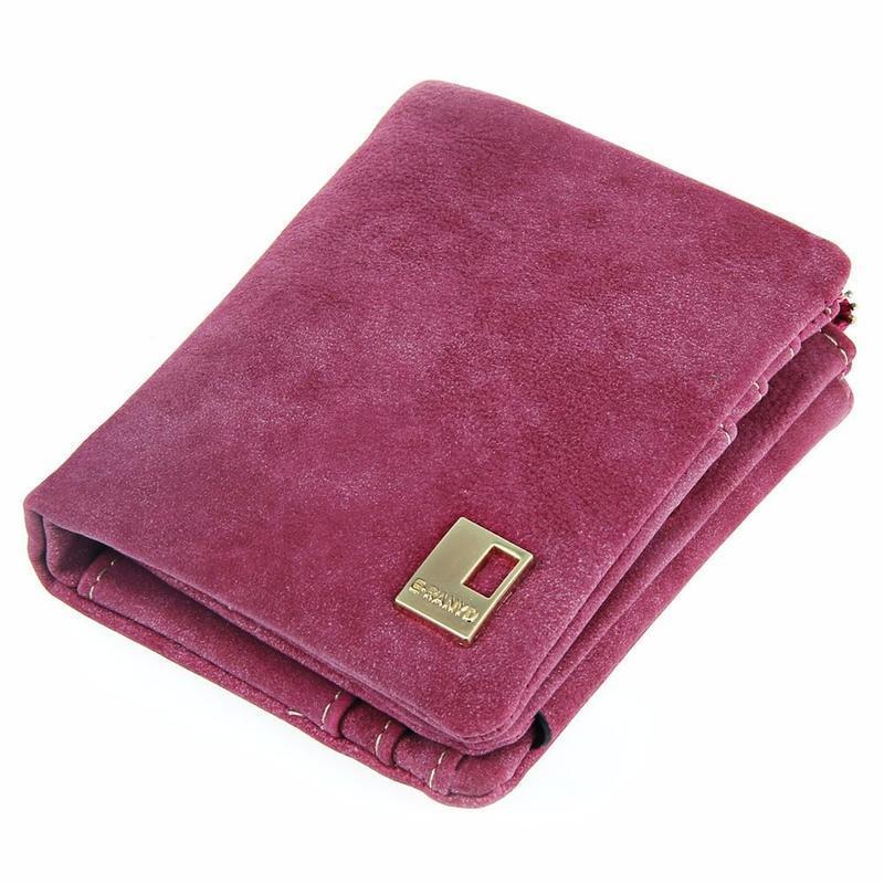 Женский стильный кошелек 12 отделений для карт фуксия