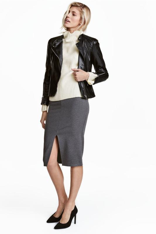 Базовая юбка карандаш длины миди с разрезом от h&m