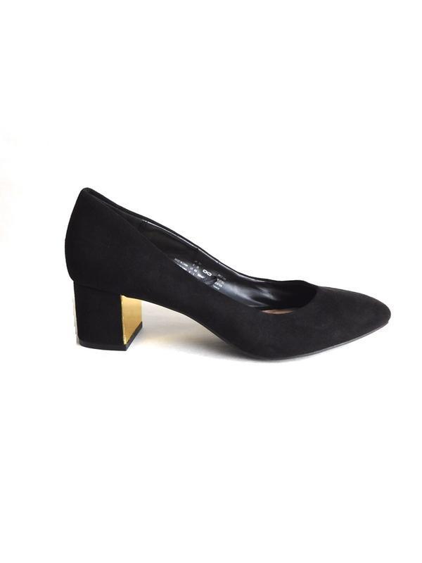 Шикарные туфли лодочки под замшу на толстом блочном каблуке от...