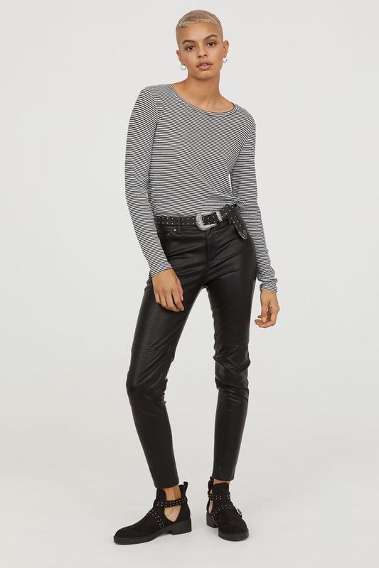 Кожаные штаны брюки кожзам эко кожа от h&m
