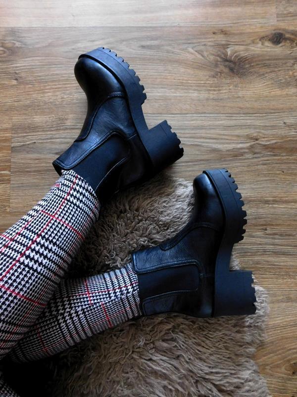 Ботинки челси на толстой массивной подошве от new look