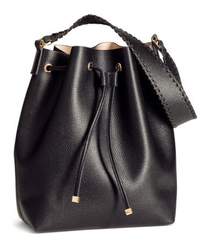 Сумка-торба на кулиске и клатч от h&m