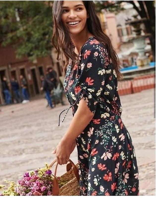 Платье халат сарафан цветочный принт на трендовых пуговицах от...
