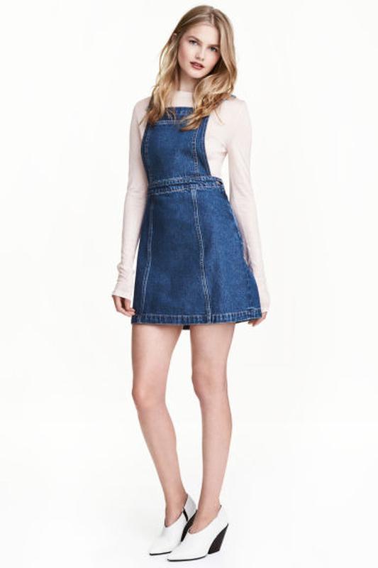 Идеальный джинсовый сарафан комбинезон платье из денима от h&m