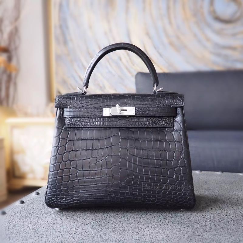 Шикарная женская сумка крокодиловая кожа в стиле hermes kelly ...
