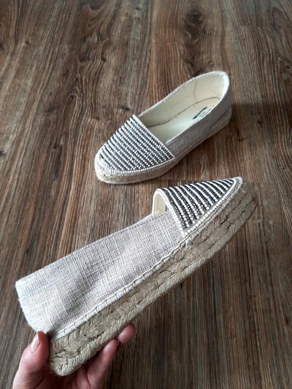 Эспадрильи туфли лоферы  мокасины на джутовой подошве от сreeks