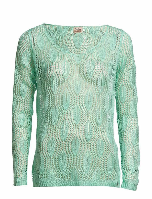 Джемпер пуловер свитер вязаный мятного цвета