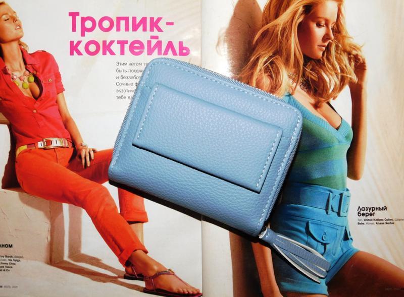 Многофункциональный кошелек с кисточкой голубой