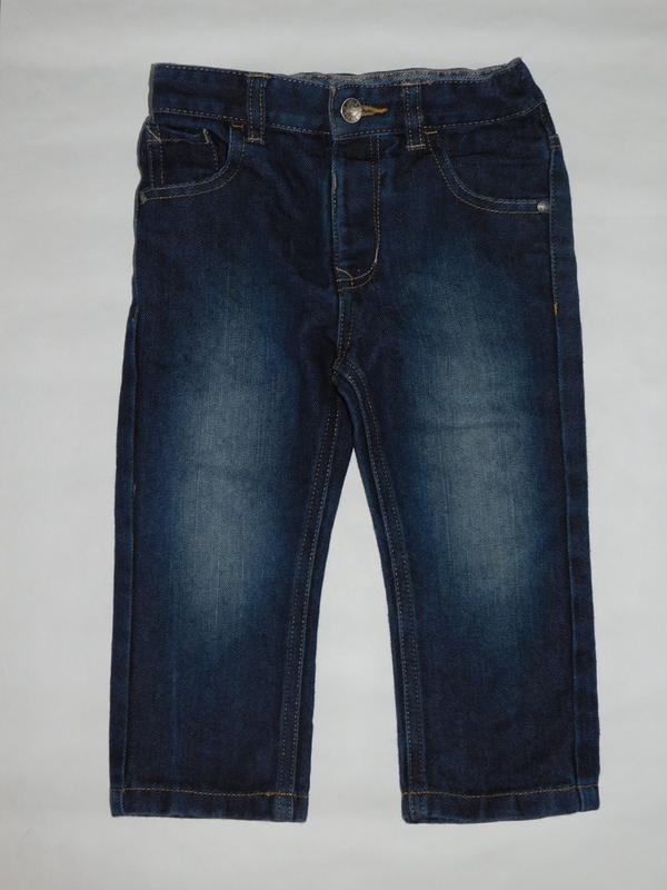 Стильные джинсы из темного денима george 2-3 года
