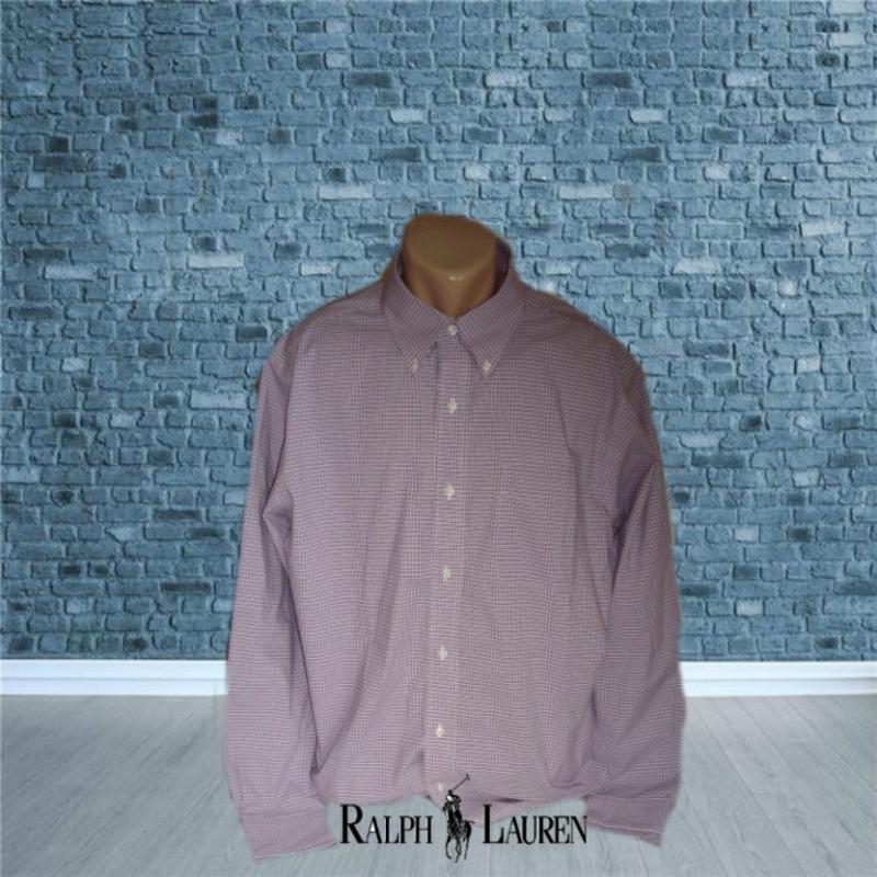 🍀🍀ralph lauren рубашка мужская длинный рукав в клетку non iron...